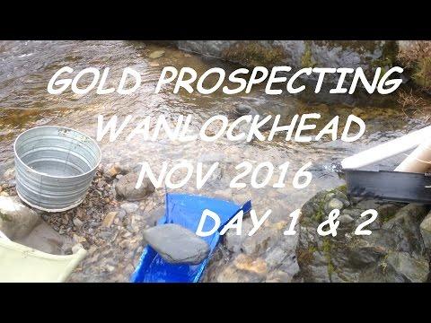Gold Prospecting Wanlockhead Nov 2016 Days 1 & 2 Large Protruding Bedrock Wall