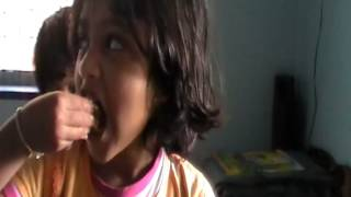 Miracle 5 year old cute baby eating with her own hand