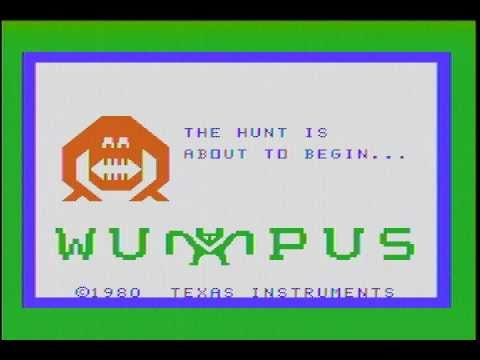 Hunt The Wumpus (TI-99/4A) Gameplay Footage