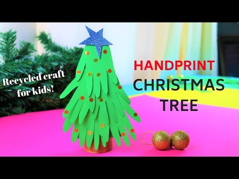 how-to-make-a-handprint-christmas-tree~diy-christmas-ornaments-for-kids-~paper-craft