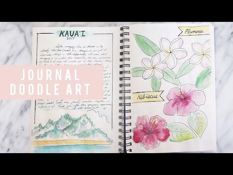 BULLET JOURNAL IDEAS | Travel Doodles | ANN LE