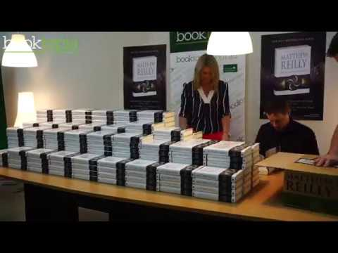 Matthew Reilly signing at Booktopia