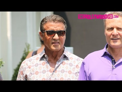 Sylvester Stallone Goes Jewelry Shopping With Friends In Beverly Hills 7.23.16