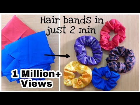 How To Make Hair Rubber Band At Home   Hair Scrunchine Tutorial  DIY   Hair Band From Old Clothes