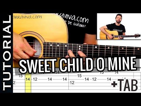 Como tocar Sweet Child O Mine En guitarra Acústica