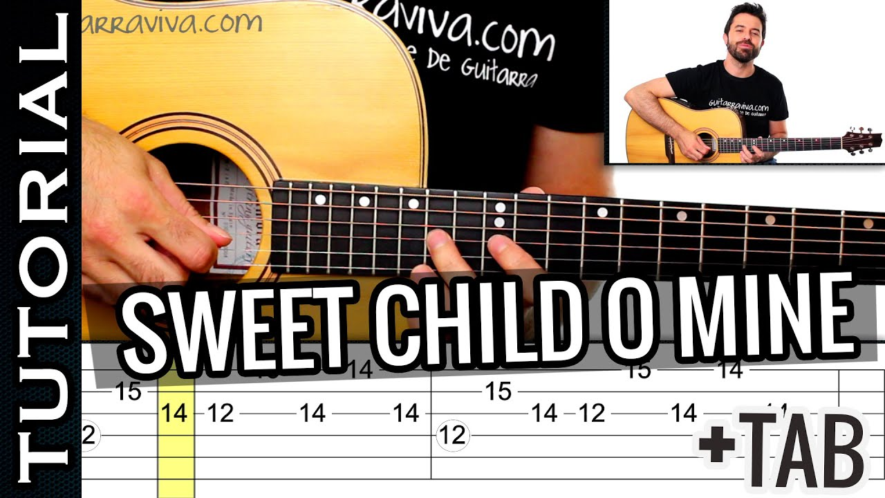 Como tocar Sweet Child O Mine En guitarra Acústica - YouTube