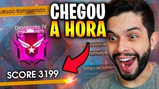 CHEGOU A HORA?!? MESTRE NA RANQUEADA DO FREE FIRE!!!