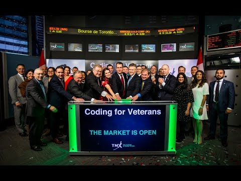 VETERAN STOCK RISES: Ringing the opening bell at TSX for our heroes