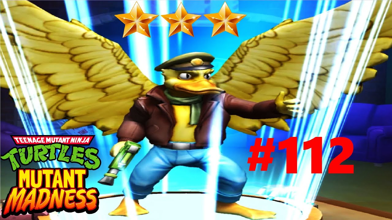 ПРОКАЧИВАЕМ УТКУ ЭЙС на 3 ЗВЕЗДУ качаем РОКСТЕДИ мобильная игра на андроид TMNT Mutant Madness #112