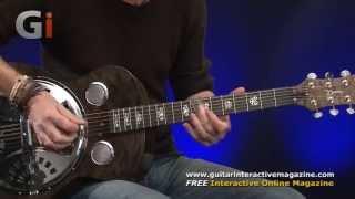 Dean Spider Quilt Maple Resonator Guitar Review   Guitar Interactive Magazine