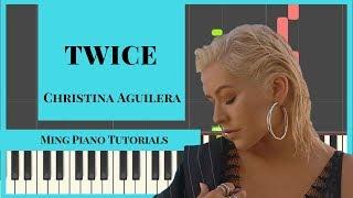 Download Lagu Twice - Christina Aguilera Piano Cover Tutorial (FREE midi and SHEETS) Ming Piano Tutorials Mp3