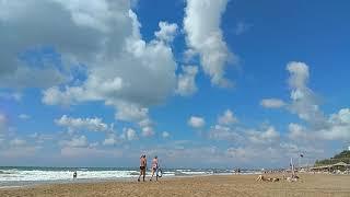 Турция Сиде пляж возле отеля Defne Ana Turkey Side central beach near hotel Defne Ana