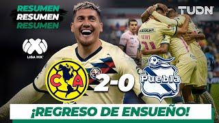 Resumen y goles | América 2 - 0 Puebla | Liga Mx - AP 19 - J15 | TUDN