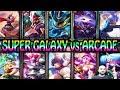 SUPER GALAXY vs ARCADE - Skin Battle - League of Legends