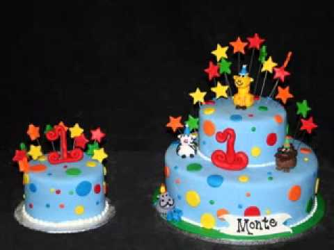 Cake Decoration Ideas For 1st Birthday : DIY First birthday cake decorations for boys - YouTube