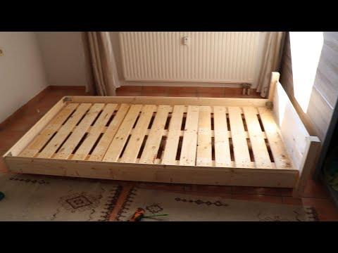 DIY UPCYCLING BETT aus alten PALETTEN  // Vlog #48 HD