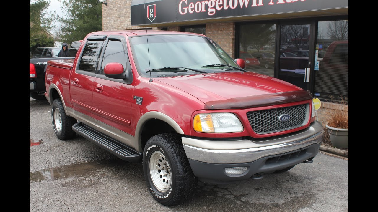 used 2001 ford f 150 xlt 4x4 red for sale georgetown auto sales ky kentucky sold youtube. Black Bedroom Furniture Sets. Home Design Ideas
