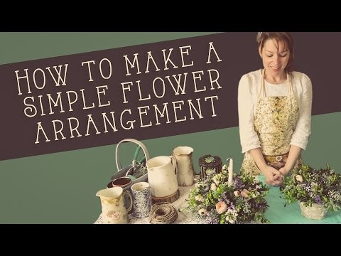 How to make a simple flower arrangement