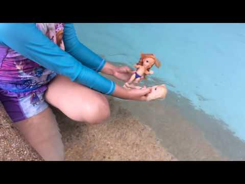 Pool time! Elsya and Anya jump,talk and Anya bumped her head but she is fine