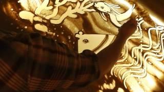 рисование песком- урок 1. художник- Айбазова Ева.