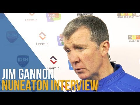 Jim Gannon Post-Match Interview - Nuneaton Town