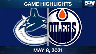 NHL Game Highlights | Canucks vs. Oilers - May 8, 2021