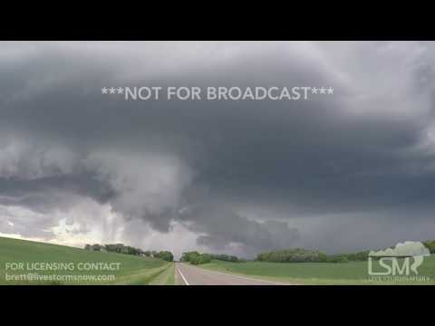 06-22-2017 Evansville, MN - Tornado Warned Supercell ND to MN - Rapid Rotation and Dust Storm