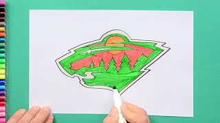 How to draw and color the Minnesota Wild Logo - NHL Team Series