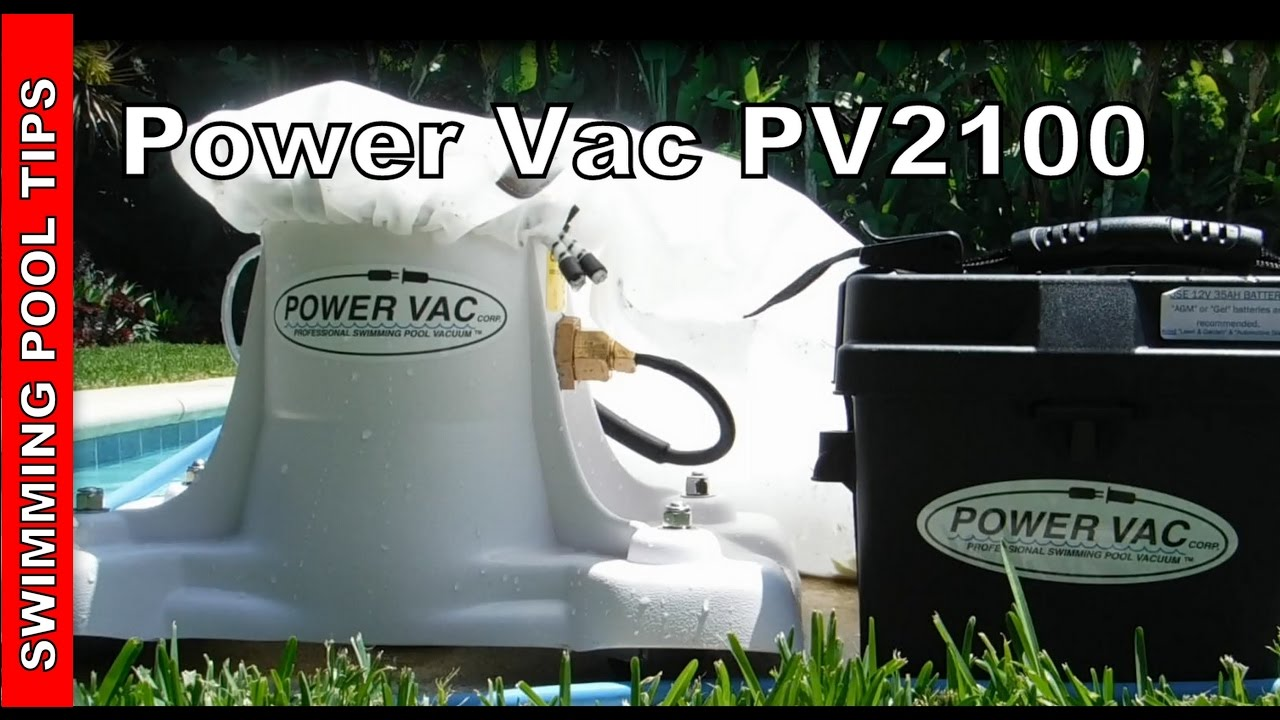 Power Vac Pv2100 Portable Professional Swimming Pool Vacuum Cleaner Youtube