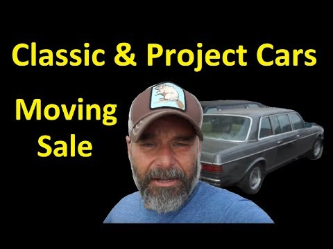 OLD CLASSIC CARS MOVING SALE ~ PROJECT EURO VIDEO ~TRIP UPDATE