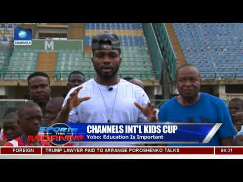 Yobo Makes Surprise Visit To Channels International Kids Cup | Sports This Morning |
