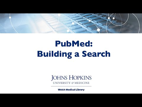 PubMed: Building a Search