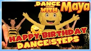 Maya the Bee 🌼 Happy Birthday Dance 🌼 TUTORIAL - Learn the steps!