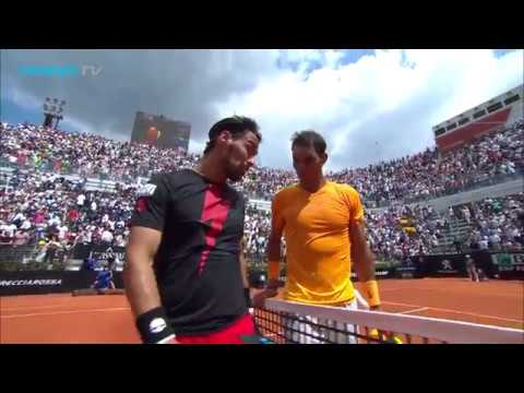 Rafa Nadal vs Fabio Fognini: Best Shots & Rallies at Rome 2018