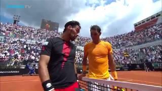 Rafa Nadal vs Fabio Fognini: Best Shots & Rallies at Rome 2018