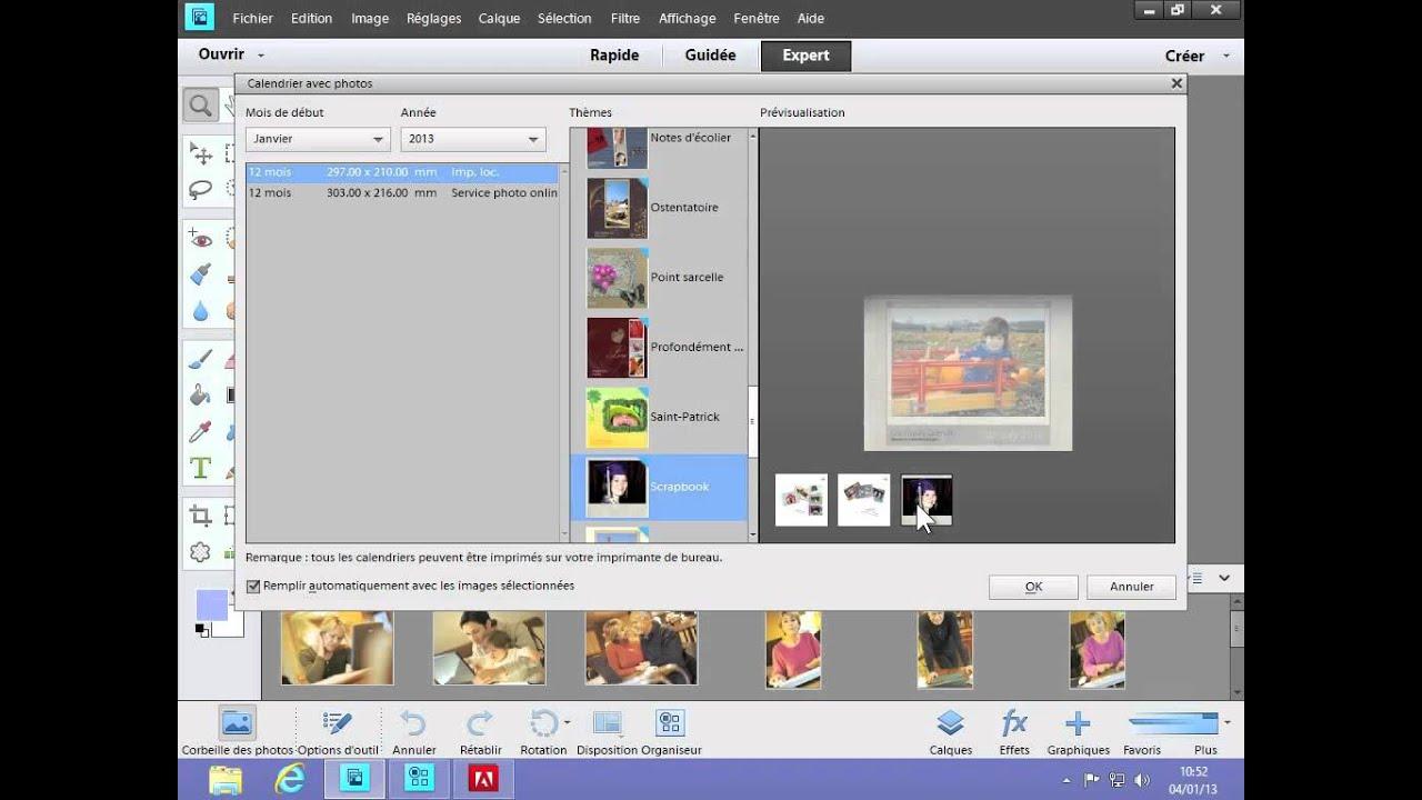 5 4 photoshop elements 11 cr er un calendrier avec - Creer un calendrier photo ...
