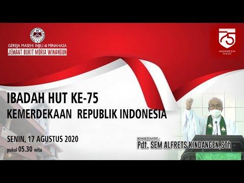 Ibadah HUT RI 75//17Agust 2020//GMIM Bukit Moria Winangun