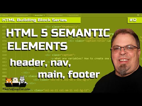 HTML 5 Semantic Elements : Header Tag, Main Tag, Footer Tag, Nav Tag, Section Tag