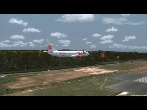 THAI LION AIR 737-900ER landing at Phuket [FSX]