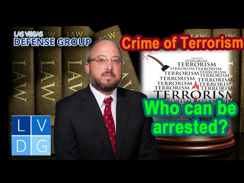 "Crime of ""terrorist threats"" in Nevada"