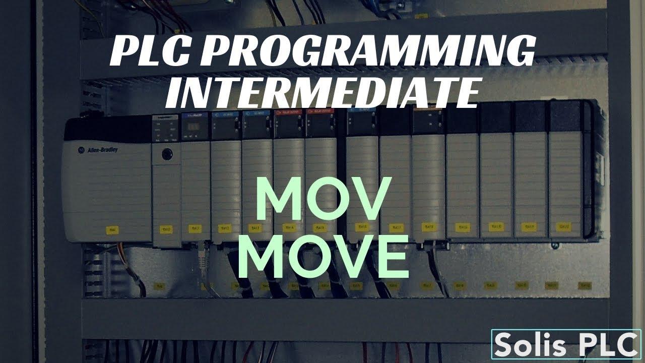 PLC Programming MOV Instruction - Move Ladder Logic RSLogix Studio 5000  Example Tutorial System