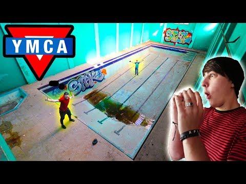 EXPLORING ABANDONED YMCA | (not alone...)