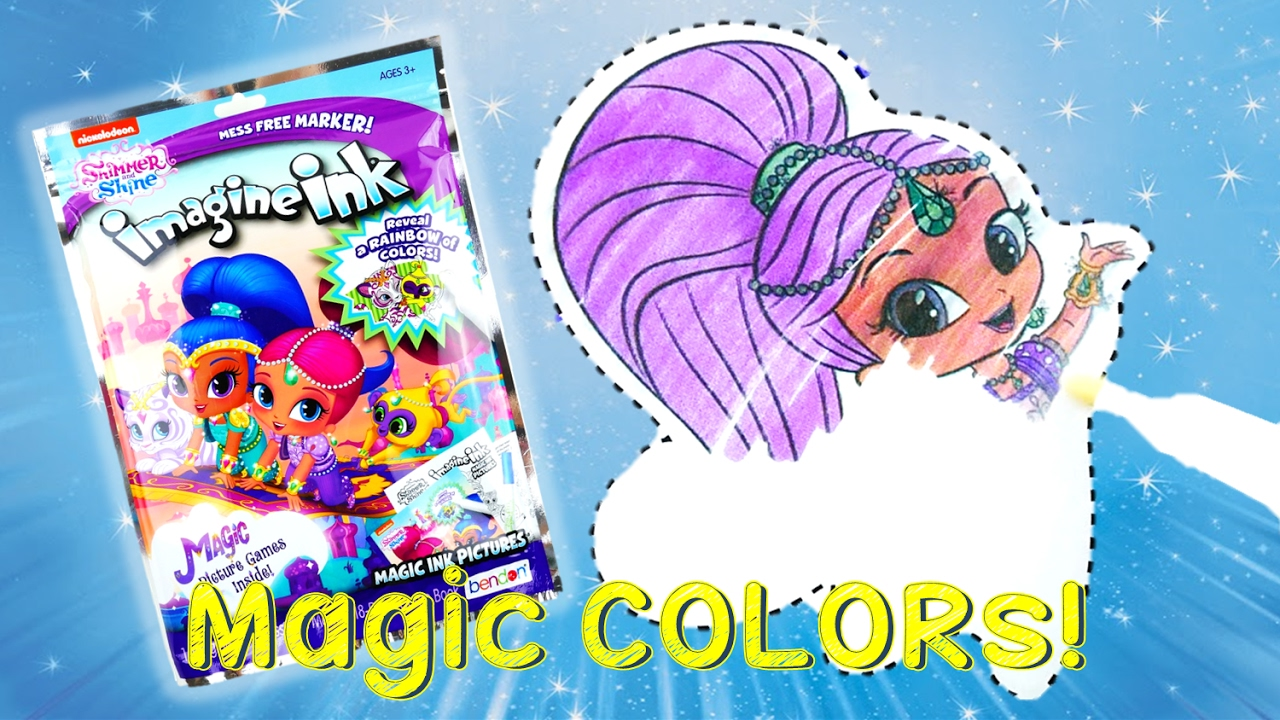 shimmer and shine color changing imagine ink rainbow marker coloring book evies toy house youtube - Magic Marker Coloring Book
