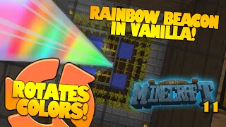 How To Minecraft | #11 | Rainbow Beacon Cycler | Rotates Colors (Minecraft Redstone)