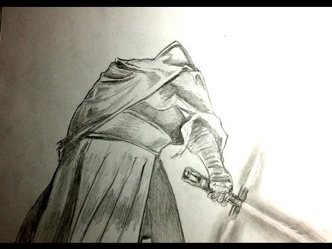 Speed painting with pencil on paper the sith from Star Wars episode 7 the force awakens YouTube