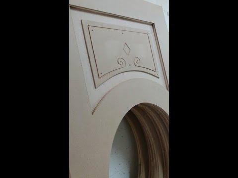 Realizzazione pannelli decorativi per porte con cnc youtube - Pannelli decorativi per porte ...