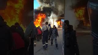 Пожар на Центролите в Рязани. 12.11.2018