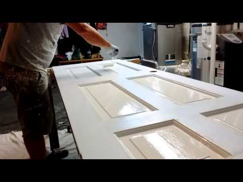 Painting interior doors with brush and roller #10