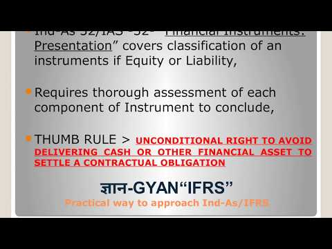 An Instrument - Equity or Liability?? - Ind-As 32/ IAS -32