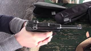 Shooting my WWI German P08 Luger